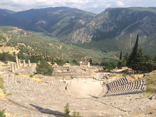 Delphi's theater, overlooking Apollon's temple