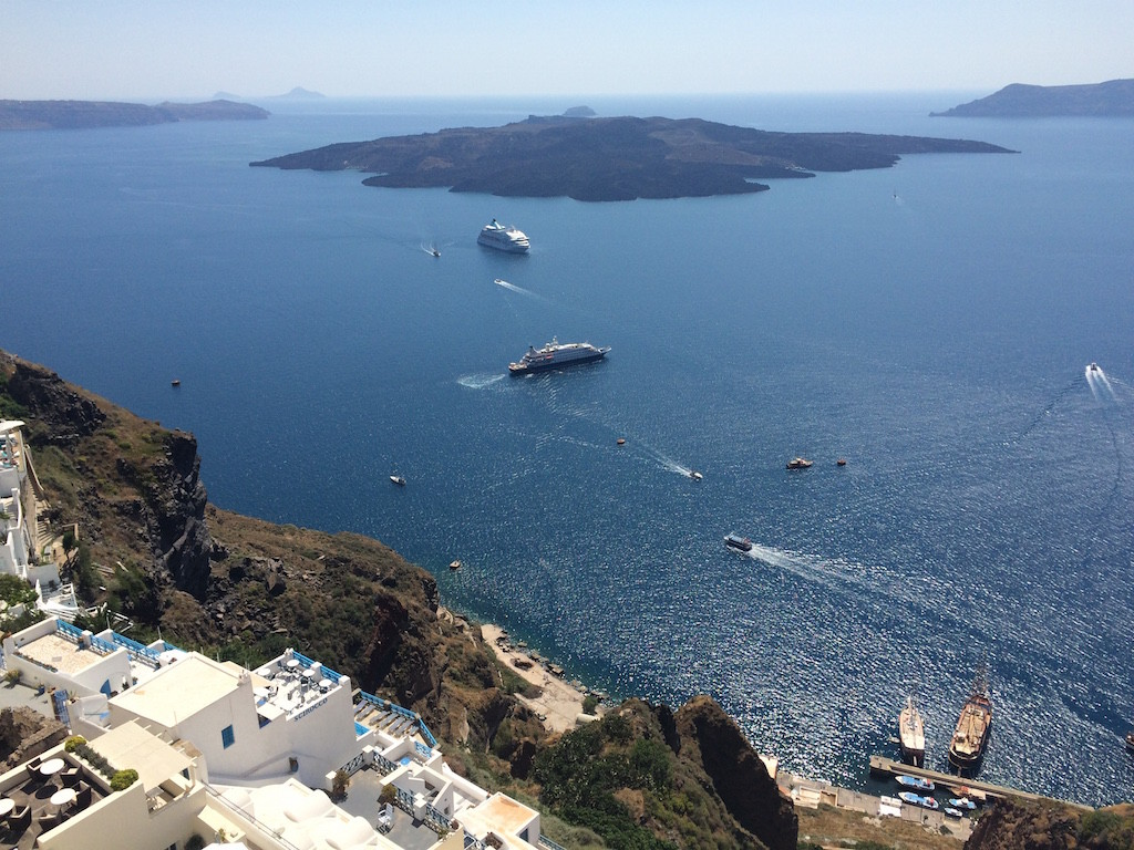 Lunch with a view - Santorini