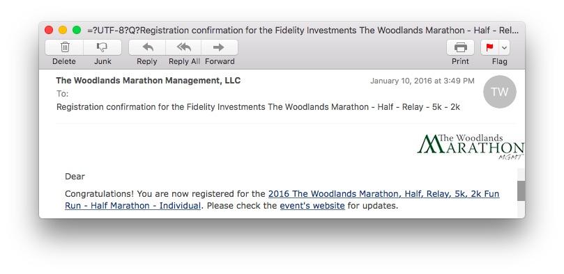 Marathon confirmed