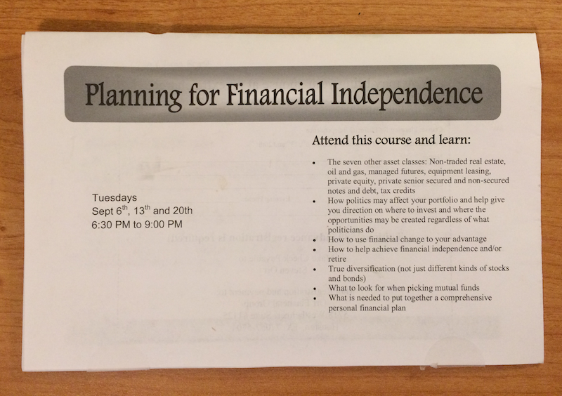 Financial independence training